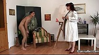 Hot mature white Married floozy jumps on his dong
