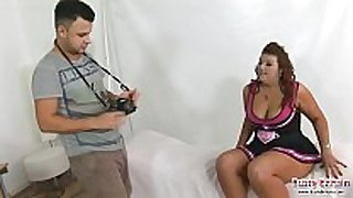 New model lucy lane drilled by photographer