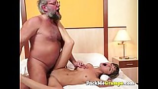Petite white bitch screwed by big mature chap