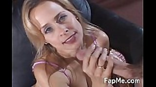 Lovely milf knows how to strokes a dong