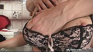 She rides my penis and Married floozy comes in