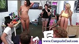 Teen gals receive cum on their face in hot game