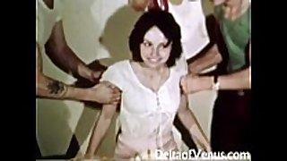 Vintage erotica 1970s - hirsute love tunnel BBC slut has se...