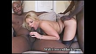 Two black chaps fuck my filthy whore bawdy floozy BBC bitch
