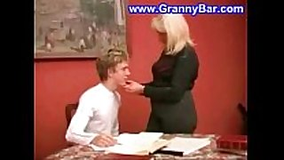 Horny older mother sucking and fucking