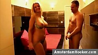 Real dutch prostitute gives blow job fun stimulation