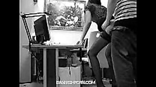 Secretary drilled by her boss very hard
