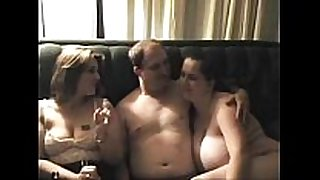 On real threesome gals don't stop after dude cums