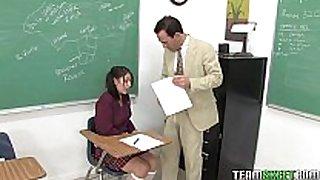 Cute black brown schoolgirl abby gets her juicy legal age teenager...