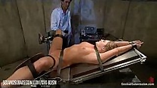 Humble golden-haired acquires anal and facial treatment
