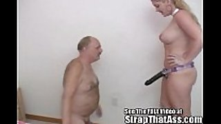 Submissive bobbie can not live out of to worship at the strap...