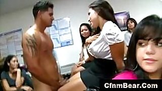 Cfnm chicks suck ramrod at office cfnm party