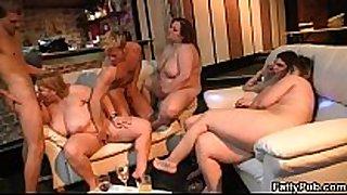 Lucky man bangs huge titted fatty