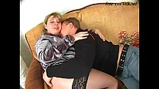 Fat mother screwed hard by youthful