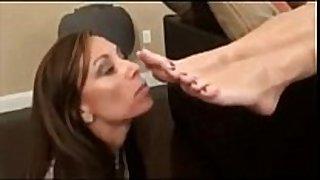 My mom has a foot fetish