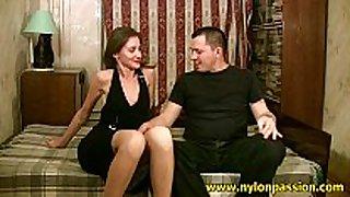 Mauricio fulfills his pantyhose fantasy