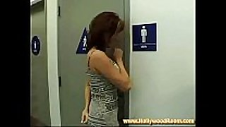 Wc blow job stimulation stimulation in gas station
