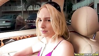 Easygoing blonde chick lets Tyler fuck her for some cash