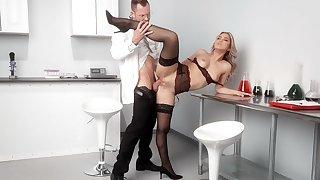 Horny doctor with a hard dick fucks beautiful latina