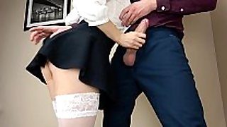 Teen copulates and swallow after blow job