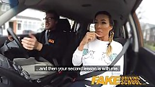 Fake driving school busty gym bunny large love love bubbles bo...