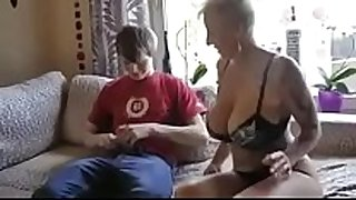 Busty step mamma drilled by son's ally
