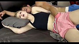 Amateur legal age teenager uncontrollable appetite for her br...