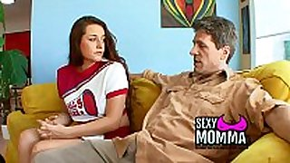 Step dadtears step- daughters tight wet crack with ...