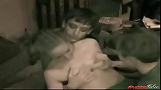 Daughter fucks daddy and brothers