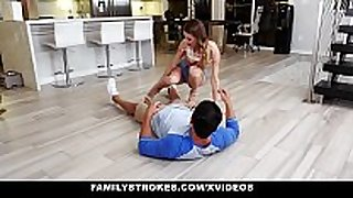 Familystrokes - sexy legal age teenager pounded by her cousin