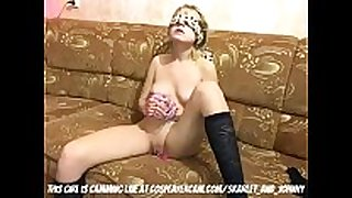 Little golden-haired Married doxy fastened up and tortured...