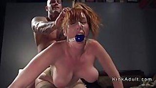 Gagged biggest milk cans redhead anal drilled