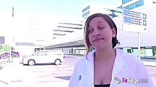 Nurse getting her every day dose of ding-dong after leav...