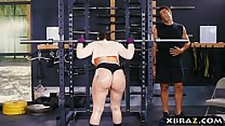 Big arse gym babe mandy muse anal fucked after s...