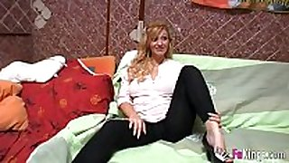 Pregnant golden-haired fucking during the time that calling customer ...