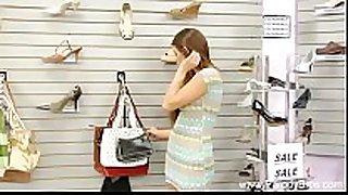 Daughter fucked in shoe store